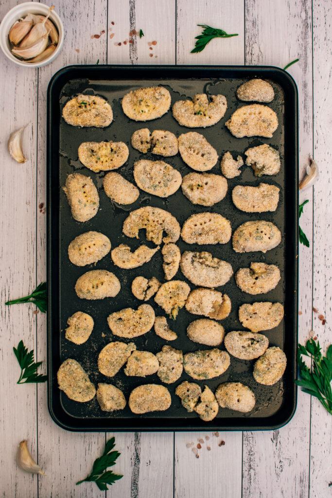 Vegan baked breaded mushroom recipe