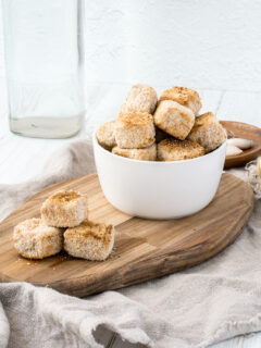 Air Fryer Tofu Nuggets with Ranch Dressing