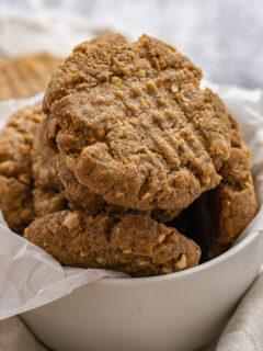 Vegan peanut butter Cookies - Keto & Gluten-Free