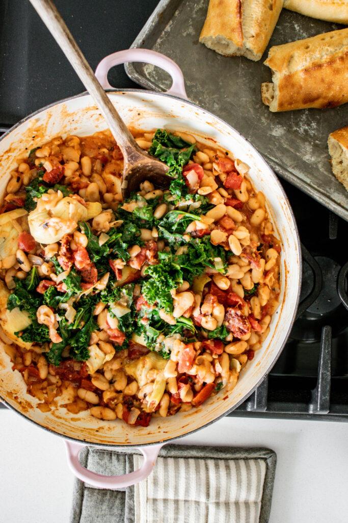 Tuscan White Bean Skillet with Kale