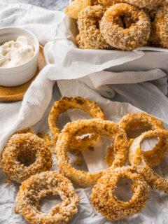 vegan air fryer onion rings no egg