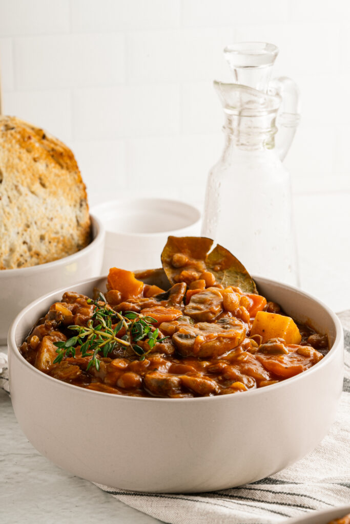 Vegan Mushroom Lentil Stew
